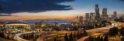 Washington, Seattle. Sweeping Sunset View over Downtown Seattle-Gary Luhm-Photographic Print