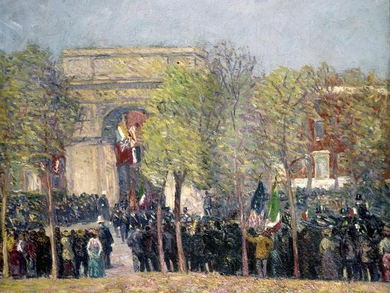 Washington Square, 1918-William James Glackens-Giclee Print