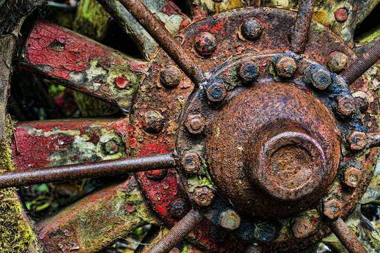 Washington State, Forks. Detail of Antique Logging Equipment-Jaynes Gallery-Photographic Print