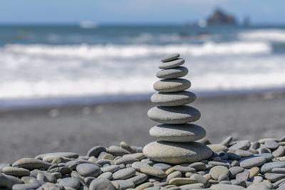 Washington State, Olympic National Park. Stacked Beach Rocks-Jaynes Gallery-Photographic Print
