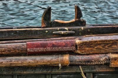 Washington State, Port Townsend. Stowed Oars and Oar Port on Longboat-Jaynes Gallery-Photographic Print