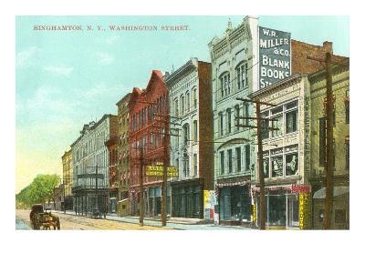 Washington Street, Binghamton, New York--Art Print