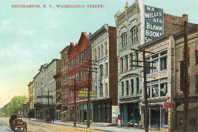 Washington Street, Binghamton--Art Print