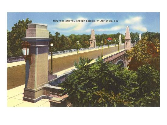 Washington Street Bridge, Wilmington, Delaware--Art Print