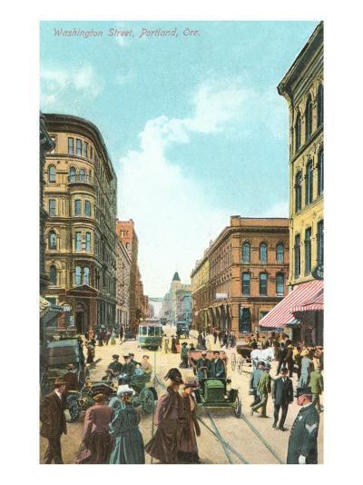Washington Street, Portland, Oregon--Art Print