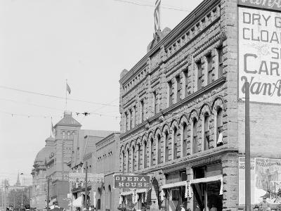 Washington Street, Showing Opera House, Marquette, Mich.--Photo