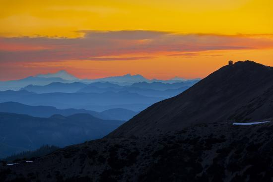 Washington, Sunrise, Mt. Fremont Lookout and the Cascade Range from Second Burroughs-Gary Luhm-Photographic Print