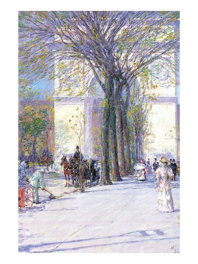 Washington Triumphal Arch in Spring-Childe Hassam-Art Print