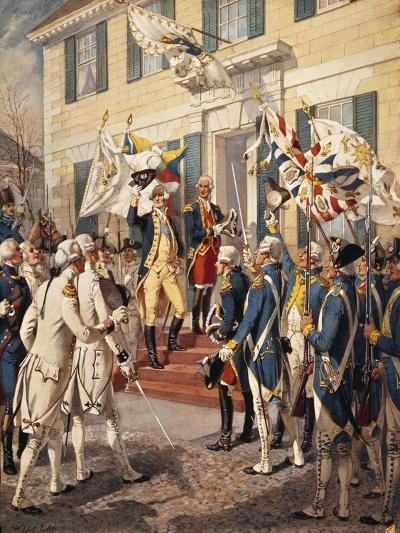 Washington Visiting Rochambeau at French Embassy-H^a^ Ogden-Giclee Print