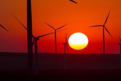 Washington, Walla Walla. Windmills. Stateline Wind Project-Brent Bergherm-Photographic Print