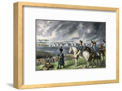 Washington Watching Evacuation of British Troops From Boston, 1776