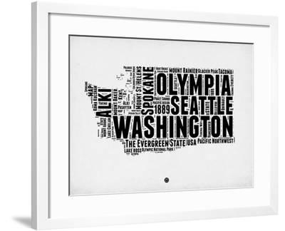 Washington Word Cloud 2-NaxArt-Framed Art Print