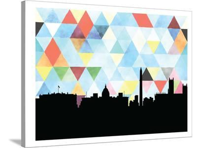 Washingtondc Triangle-Paperfinch 0-Stretched Canvas Print