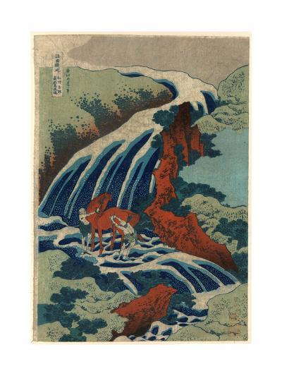 Washu Yoshino Yoshitsune Uma Arai No Taki-Katsushika Hokusai-Giclee Print
