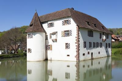 Wasserschloss Inzlingen Water Castle, Markgraefler Land, Black Forest, Baden- Wurttemberg, Germany-Markus Lange-Photographic Print