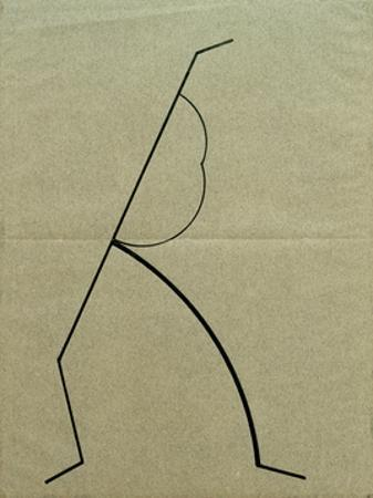 Analytical Drawing after Photos of Dancing 2, 1925 by Wassily Kandinsky