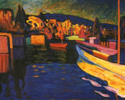 Autumn Landscapes with Boats by Wassily Kandinsky