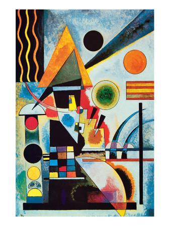 Wassily Kandinsky Premium-Poster Zeichen mit Begleitung