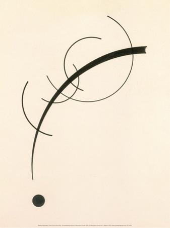 Free Curve to the Point - Accompanying Sound of Geometric Curves, 1925 by Wassily Kandinsky