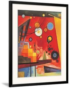 Heavy Red by Wassily Kandinsky