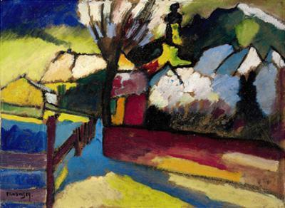 Herbstlandschaft mit Baum (1910) by Wassily Kandinsky