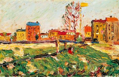 Houses in the Suburbs I, 1901 by Wassily Kandinsky