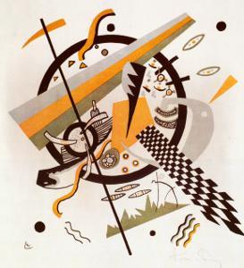 Komposition mit Schachbrettstreifen, 1922 by Wassily Kandinsky