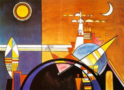 La Grande Piazza a Kiev by Wassily Kandinsky