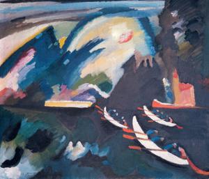 Lake, 1910 by Wassily Kandinsky