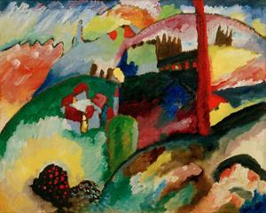 Landscape with Chimneys, 1910 by Wassily Kandinsky