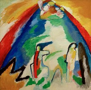 Mountain, 1909 by Wassily Kandinsky