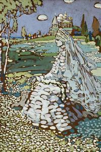 Russische Schoene in Landschaft, Um 1904 by Wassily Kandinsky