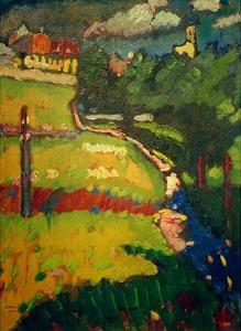 Study for Church in Murnau, 1908 by Wassily Kandinsky