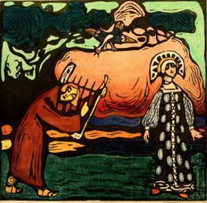 The Dulcimer Player, 1907 by Wassily Kandinsky