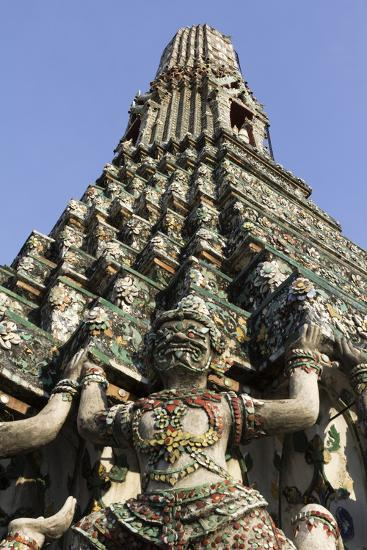 Wat Arun (The Temple of Dawn) Stupa, Bangkok, Thailand, Southeast Asia, Asia-Stuart Black-Photographic Print