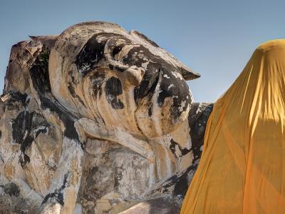 Wat Lokaya Suttha in Ayutthaya Reclining Buddha-Terry Eggers-Photographic Print