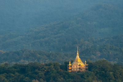 Wat Pa Phon Phao Temple on a Ridge Near Luang Pragang-Michael Melford-Photographic Print