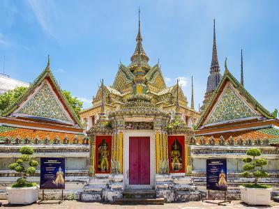 Wat Pho (Temple of the Reclining Buddha), Bangkok, Thailand, Southeast Asia, Asia-Jason Langley-Photographic Print