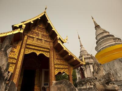 Wat Phra Singh, Chiang Mai, Chiang Mai Province, Thailand, Southeast Asia, Asia-Michael Snell-Photographic Print