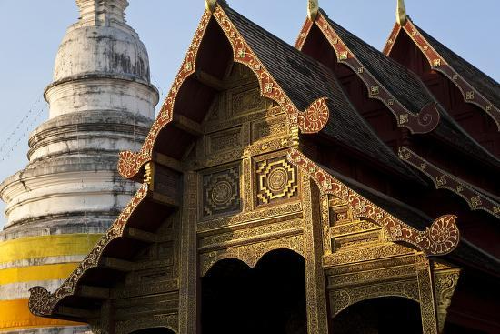 Wat Phra Singh, Chiang Mai, Thailand, South East Asia-Peter Adams-Photographic Print