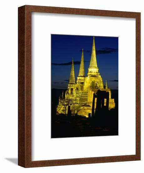 Wat Phra Sri Sanphet Built by King Ramathibodi I in the 14th Century, Ayuthaya, Thailand-Tom Cockrem-Framed Photographic Print