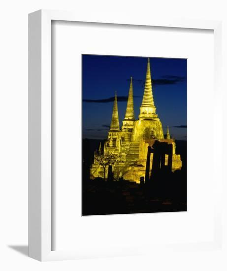 Wat Phra Sri Sanphet Built by King Ramathibodi I in the 14th Century, Ayuthaya, Thailand-Tom Cockrem-Framed Photographic Print