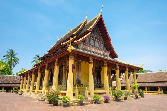 Wat Si Saket (Wat Sisaket) Temple, Vientiane, Laos, Indochina, Southeast Asia, Asia-Jason Langley-Photographic Print