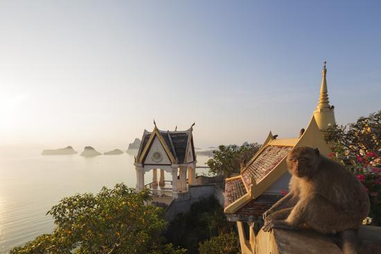 Wat Thammikaram Worawihan Temple, Khao Chong Krajok, Prachuap Kiri Khan, Thailand, Southeast Asia-Christian Kober-Photographic Print