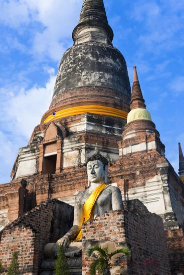 Wat Yai Chai Mongkol, Ayutthaya, Thailand-Peter Adams-Photographic Print