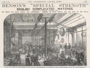 Watch and Clock Manufacture a Watch and Clock Factory Workshop in the Rear of Benson's Showrooms