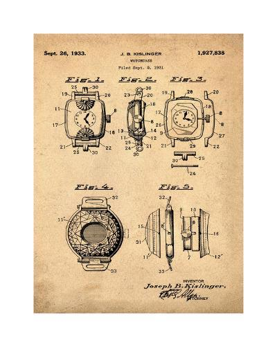 Watch Case, 1931-Antique-Bill Cannon-Giclee Print