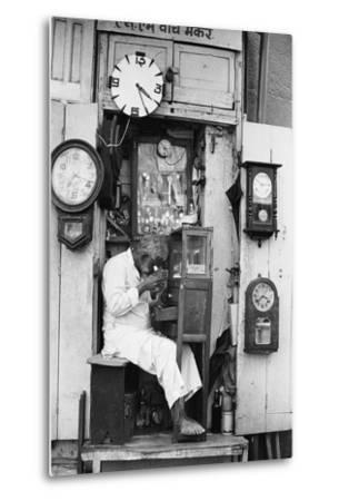 Watch Repair Shop, Mohammed Ali Road, Mumbai, Maharashtra, India, 1976