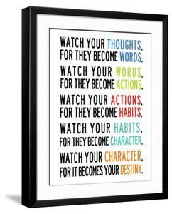Watch Your Thoughts Colorful