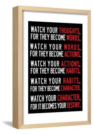 Watch Your Thoughts Motivational Poster